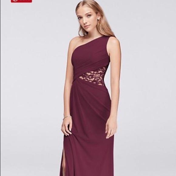 Davids Bridal Dresses Plus Size Mesh Dress With Lace Inset Poshmark